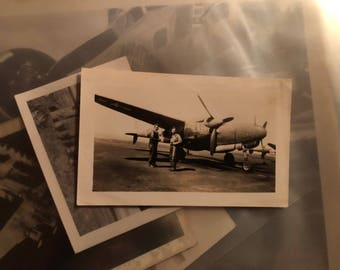 ORIGINAL WWII snapshot (P38 Lightning)