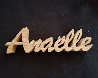 Name, Word or intention wooden fretwork