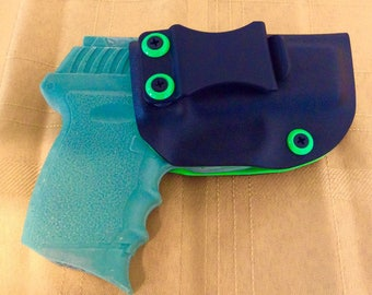 SCCY CPX2 without safety 9mm kydex holster IWB, green and black adjustable cant FREE shipping!