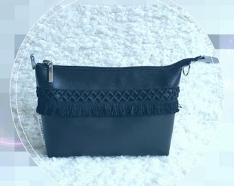 Black cosmetic bag, eco leather cosmetic bag, a beautician Michelle