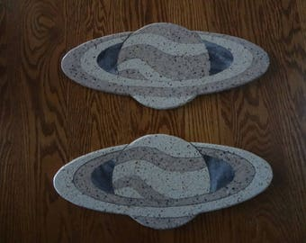 Saturn shaped corian cutting board
