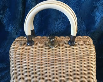"""Vintage """"Straw"""" Marcos Brothers Bag"""
