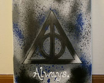 Harry Potter Spray Paint Canvas