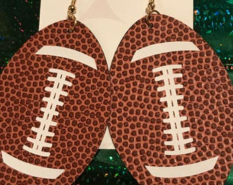 Football Earrings (faux leather)