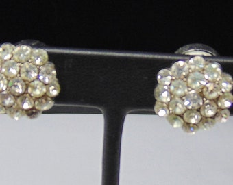 """Vintage Coro Signed """"Glamour Magic"""" Magnetic Earrings/Twin Pins"""