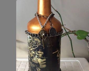 Steampunk robot bottle
