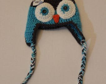 owl crochet hat