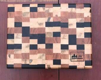 Walnut, Cherry and Maple end grain cutting board