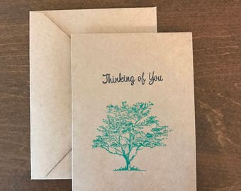Tree Note Card, Thinking of You, Sympathy Card, Nature