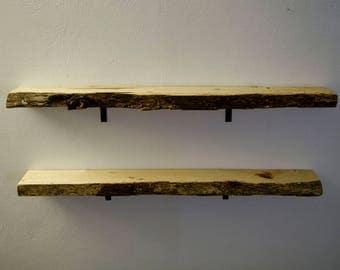 Live Edge Hickory Shelves