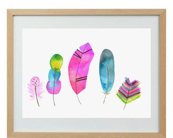Feathers - limited edition print
