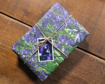 Wild Bluebells Eco Wrapping Paper and Gift Tag