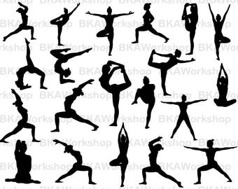 Yoga svg - Yoga Silhouette - Yoga vector - Yoga digital clipart for Design or more, files download svg, png