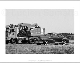 Black and White Photograph - 1940's on the Highway