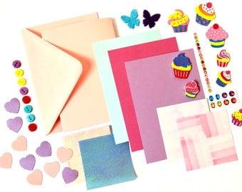 Cupcake card making set