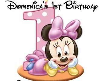 Minnie Mouse 1st Birthday Invitation