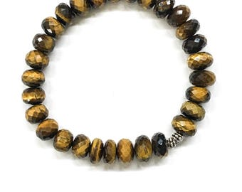 Beautiful Silver and Tiger's eye Bracelet