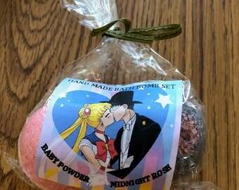 Sailor Moon & Tuxedo Mask 2 Piece Bath Bomb Set