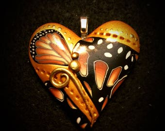 Yellow/Gold 'Brave' Heart Pendant - Active Recovery