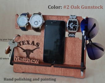 Docking stand Groomsmen gift Personalized Docking Station Personalized Docking Stand Iphone docking Wood Stand Gift for Him for men for dad