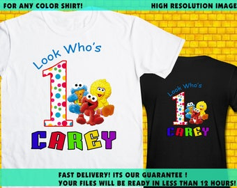 Sesame / Iron On Transfer / Sesame Birthday Shirt Design / Printable / High Resolution / For Any Color T Shirt / 12 Hours Turnaround Time