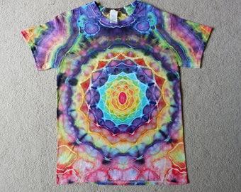 Small Short Sleeve Rainbow Mandala T-shirt