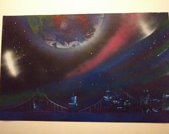Original Unique spray paint art