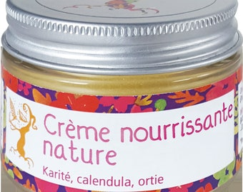 Cream nourishing sensitive skin