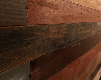 Rustic Distressed Homemade Wood-Wall Plank Kit