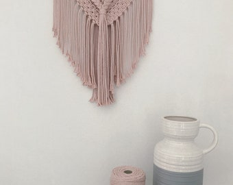 Macrame Wall Hanging 'Blush Layered Boho'