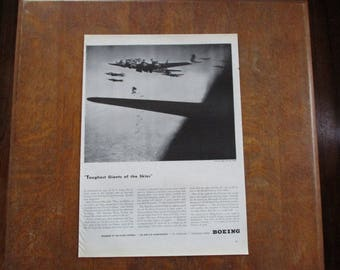 1944 Original Vintage Boeing bomber plane ad