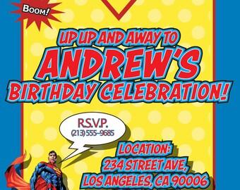 Superman Birthday Invitation