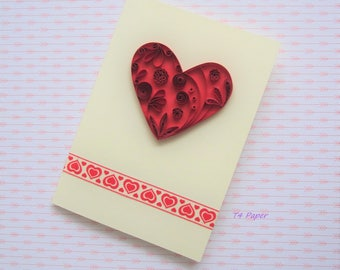 Quilling Card Heart