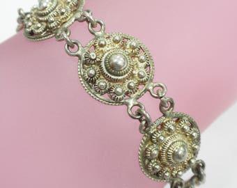 Vintage Old Sterling Silver Bracelet 19.4 Grams 7 inches