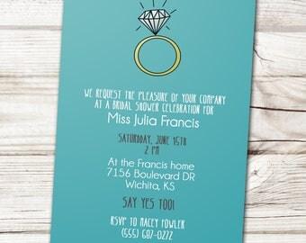 Bridal Shower Invitation, Ring Bridal Shower Invitation