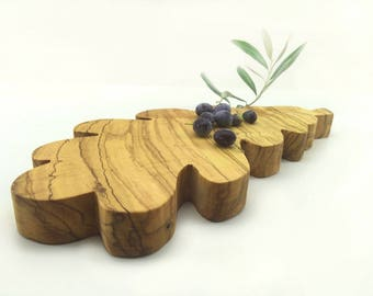 Ruffled Serving Board Made by Olive Wood
