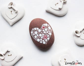 Painted Valentine's stone