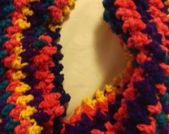Rainbow cowl neck scarf