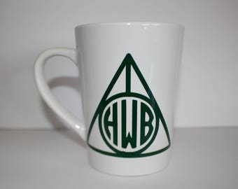 Deathly Hallows Monogram Coffee Mug