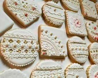 Lace and Pearls Sugar Cookies