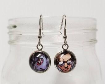 Egon Spengler Earrings (Ghostbusters)