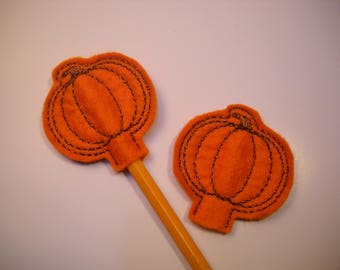 Pumpkin pencil topper