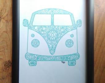 Hippie Bus Framed Print