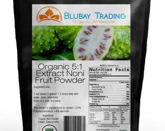 8 oz Organic Noni Fruit Powder 5:1 Extract Pure (1/2 LB) FREE SHIPPING