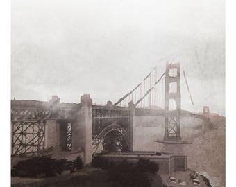 Golden Gate - Digital Art Print