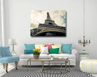 Eiffel Tower in Paris Master 40X30 Canvas Gallery Wrap 65% Off