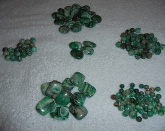Green crazy lace agate