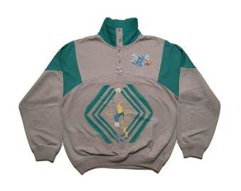 Vintage Charlotte Hornets Sweatshirt vintage 90s Nba - Sz S