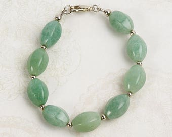 Bracelet aventurine green 16 cm