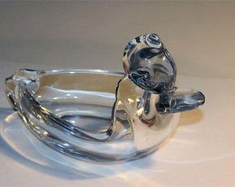 Glass Duck Ashtray
